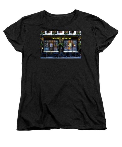 Pissed As A Newt Pub  Women's T-Shirt (Standard Cut) by David Pyatt