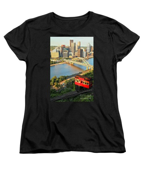 Pittsburgh Duquesne Incline Women's T-Shirt (Standard Cut) by Adam Jewell
