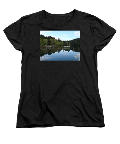 Place Of The Blue Grouse Women's T-Shirt (Standard Cut) by Cheryl Hoyle