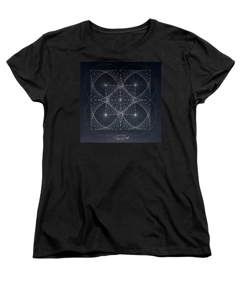 Women's T-Shirt (Standard Cut) featuring the drawing Plancks Blackhole by Jason Padgett