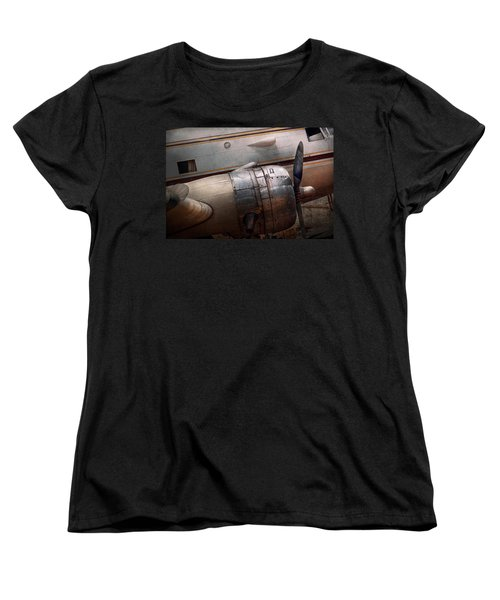 Women's T-Shirt (Standard Cut) featuring the photograph Plane - A Little Rough Around The Edges by Mike Savad