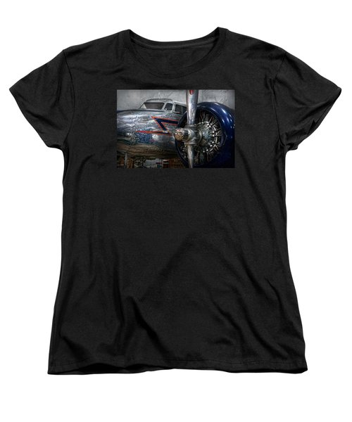 Plane - Hey Fly Boy  Women's T-Shirt (Standard Cut) by Mike Savad
