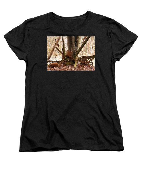 Women's T-Shirt (Standard Cut) featuring the photograph Planted Planter by Nick Kirby