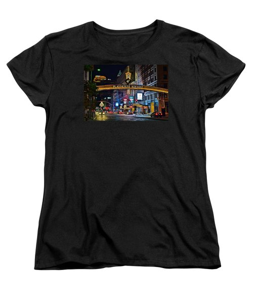 Playhouse Square Women's T-Shirt (Standard Cut) by Frozen in Time Fine Art Photography