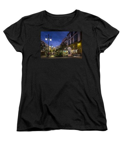 Plaza De Las Flores Cadiz Spain Women's T-Shirt (Standard Cut) by Pablo Avanzini