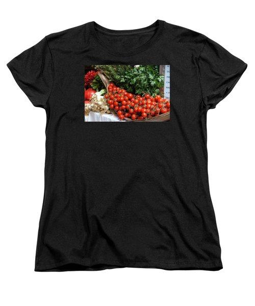 Plentiful Red Women's T-Shirt (Standard Cut) by Debi Demetrion