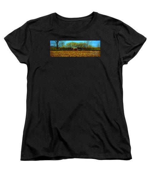 Women's T-Shirt (Standard Cut) featuring the photograph Plow Days Freeport  Tom Jelen by Tom Jelen