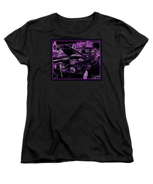 Women's T-Shirt (Standard Cut) featuring the digital art Plum Perfect by Bobbee Rickard