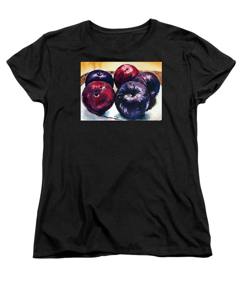 Women's T-Shirt (Standard Cut) featuring the painting Plums by Joey Agbayani