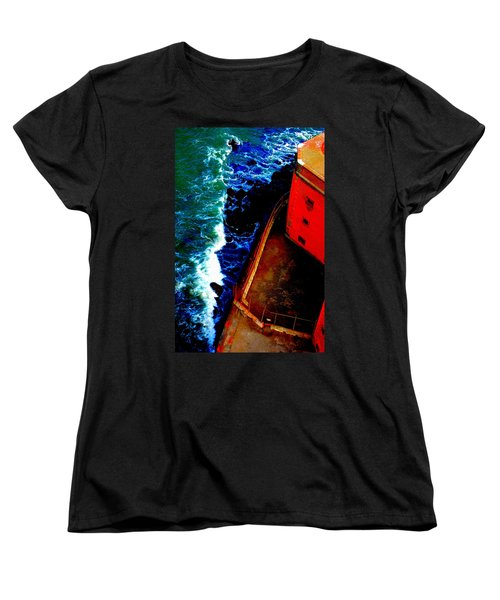 Plunging From Golden Gate Women's T-Shirt (Standard Cut) by Holly Blunkall