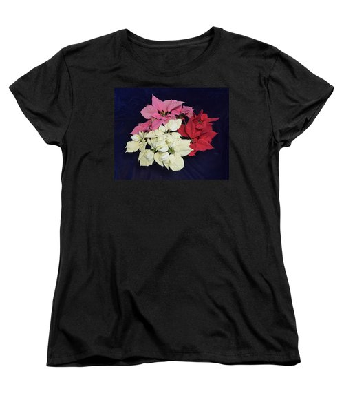 Poinsettia Tricolor Women's T-Shirt (Standard Cut)