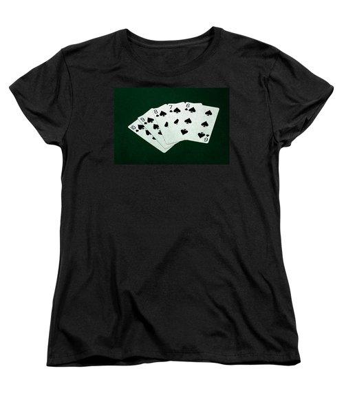 Poker Hands - Straight Flush 1 Women's T-Shirt (Standard Cut) by Alexander Senin