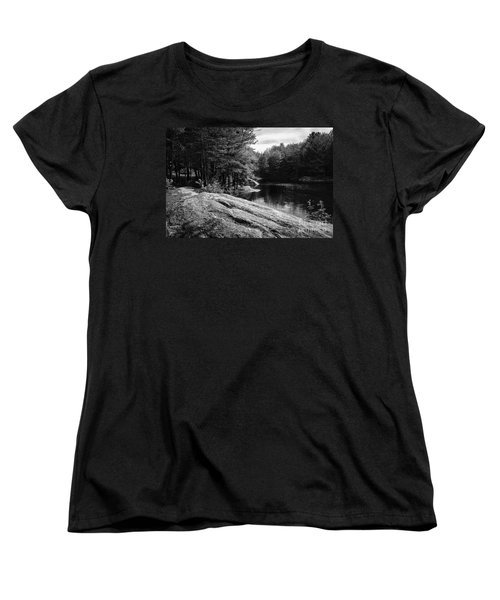 Women's T-Shirt (Standard Cut) featuring the photograph Pondside by Mark Myhaver