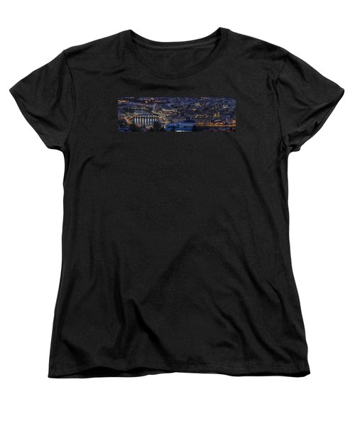 Women's T-Shirt (Standard Cut) featuring the photograph Pontevedra Panorama From A Caeira by Pablo Avanzini