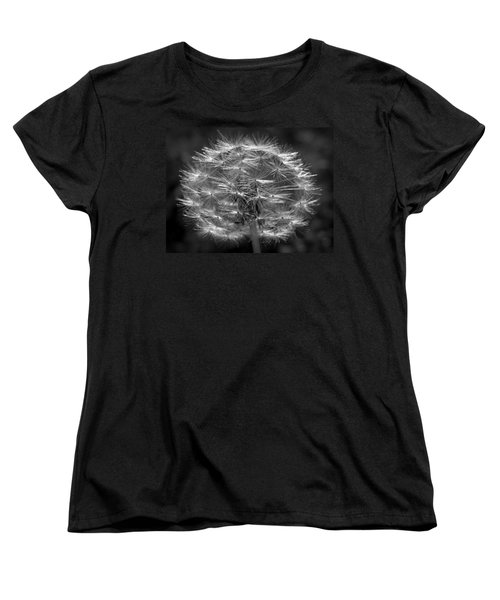 Women's T-Shirt (Standard Cut) featuring the photograph Poof - Black And White by Joseph Skompski