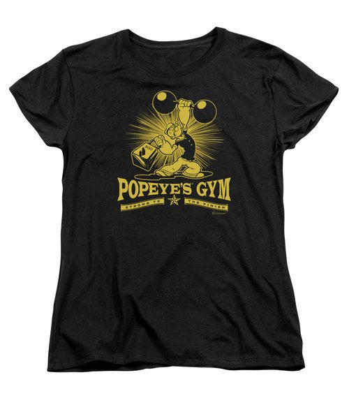 Popeye - Popeyes Gym Women's T-Shirt (Standard Cut) by Brand A