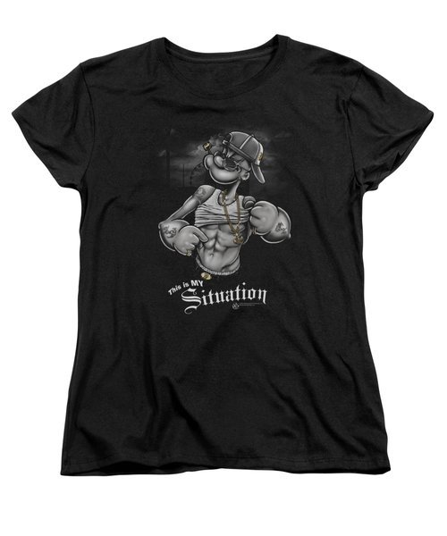 Popeye - Situation Women's T-Shirt (Standard Cut) by Brand A