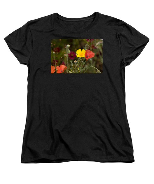 Women's T-Shirt (Standard Cut) featuring the photograph Poppy Love by Mark Greenberg