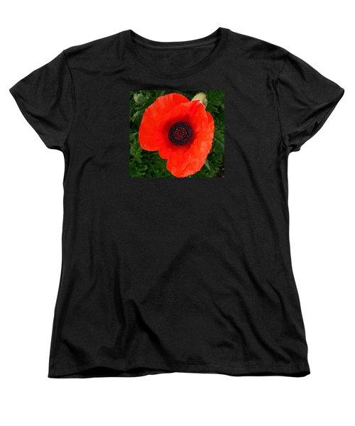 Poppy Of Remembrance  Women's T-Shirt (Standard Cut) by Sharon Duguay
