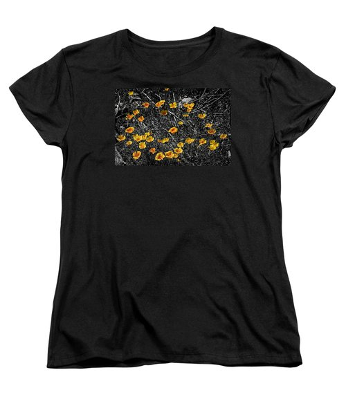 Women's T-Shirt (Standard Cut) featuring the photograph Poppyflies by Mark Myhaver