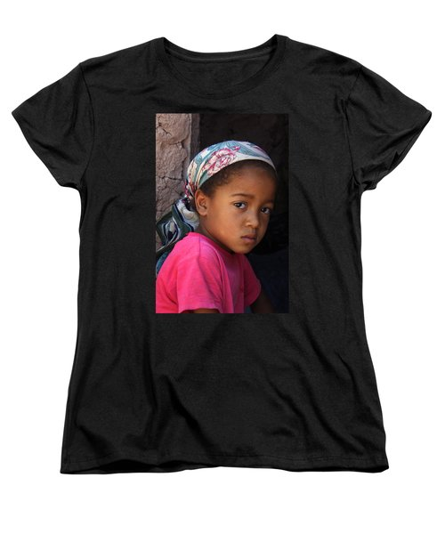 Portrait Of A Berber Girl Women's T-Shirt (Standard Cut) by Ralph A  Ledergerber-Photography
