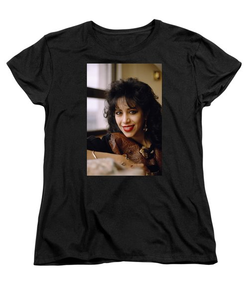 Portrait Of Ofra Haza Women's T-Shirt (Standard Cut) by Shaun Higson