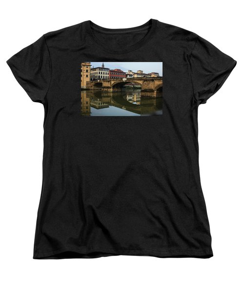Women's T-Shirt (Standard Cut) featuring the photograph Postcard From Florence  by Georgia Mizuleva
