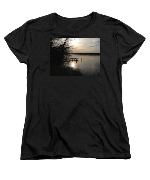 Women's T-Shirt (Standard Cut) featuring the photograph Potomac Reflective by Charles Kraus