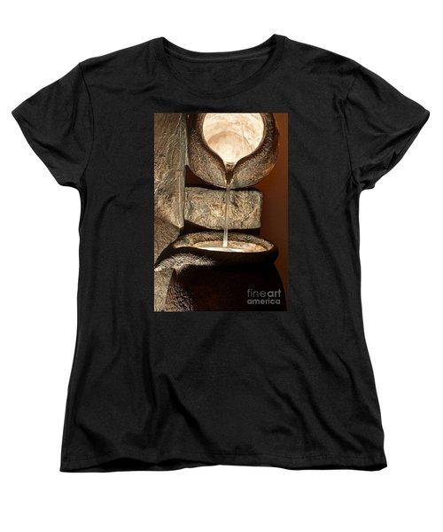 Pouring Out Water Art Prints Women's T-Shirt (Standard Cut) by Valerie Garner