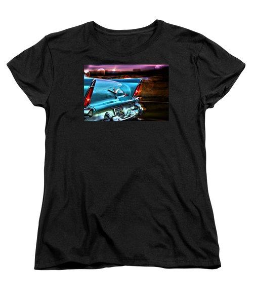 Vintage Car Women's T-Shirt (Standard Cut) featuring the photograph Powerflite by Aaron Berg