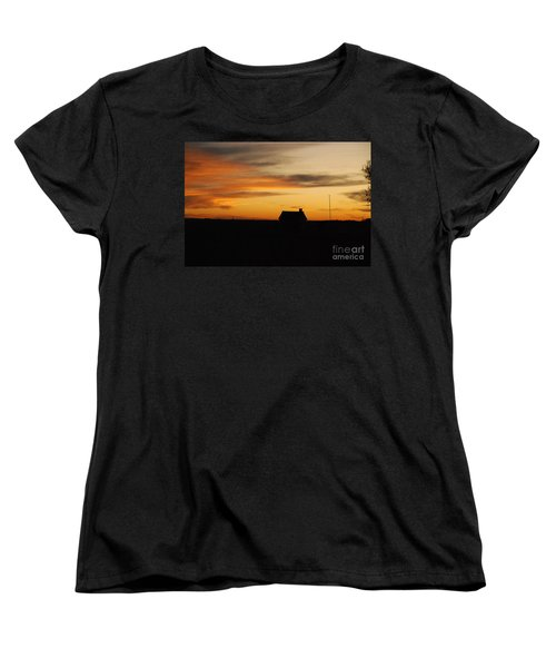 Women's T-Shirt (Standard Cut) featuring the photograph Prairie Sunset by Mary Carol Story