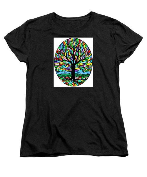 Prayer Tree Women's T-Shirt (Standard Cut) by Jim Harris