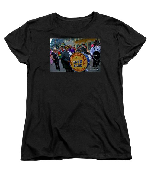 New Orleans Jazz Band  Women's T-Shirt (Standard Cut) by Luana K Perez