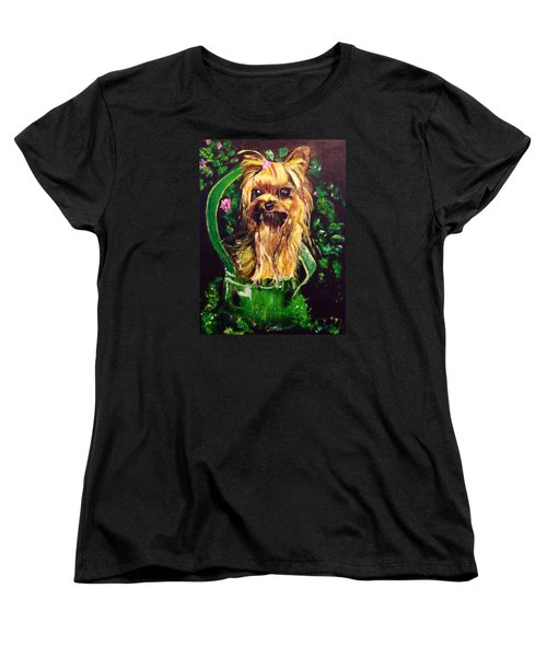 Women's T-Shirt (Standard Cut) featuring the painting Pretty Bambi by Belinda Low