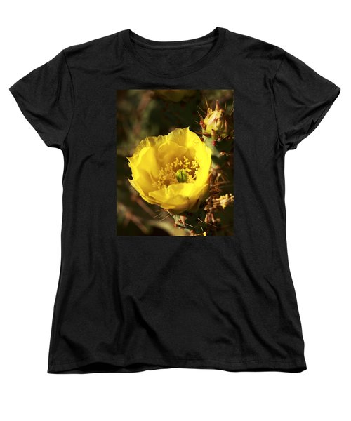 Prickly Pear Flower Women's T-Shirt (Standard Cut) by Alan Vance Ley