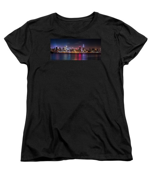 Women's T-Shirt (Standard Cut) featuring the photograph Pride Weekend Panorama by Mihai Andritoiu