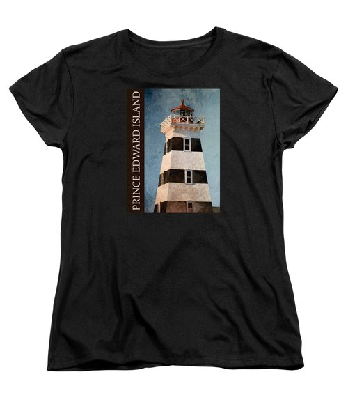 Women's T-Shirt (Standard Cut) featuring the photograph Prince Edward Island Lighthouse by WB Johnston