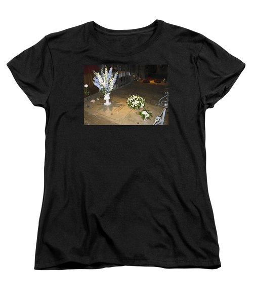 Women's T-Shirt (Standard Cut) featuring the photograph Princess Grace Tomb by Allen Sheffield