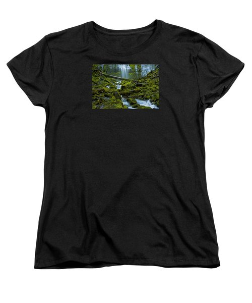 Women's T-Shirt (Standard Cut) featuring the photograph Proxy Falls by Nick  Boren
