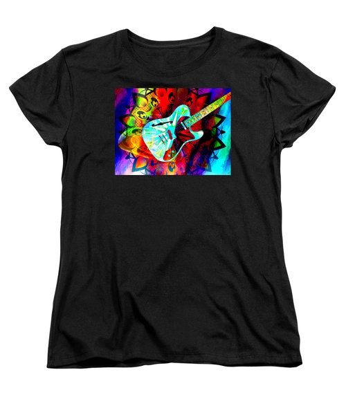 Psychedelic Guitar Women's T-Shirt (Standard Cut) by Ally  White