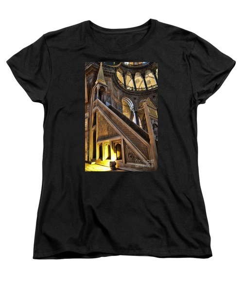 Pulpit In The Aya Sofia Museum In Istanbul  Women's T-Shirt (Standard Cut) by David Smith