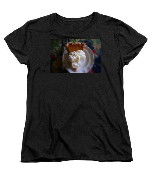 Pumpkin Pie A' La Mode Women's T-Shirt (Standard Cut) by Kay Novy