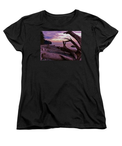 Women's T-Shirt (Standard Cut) featuring the photograph Purple Dreams In Bc by Barbara St Jean