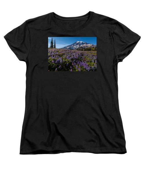 Purple Fields Forever And Ever Women's T-Shirt (Standard Cut) by Mike Reid