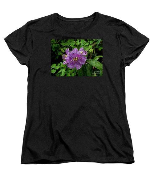 Purple Flower Women's T-Shirt (Standard Cut) by Sergey Lukashin