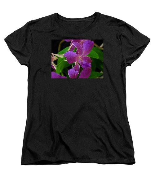 Women's T-Shirt (Standard Cut) featuring the photograph Purple Over Green by Greg Allore