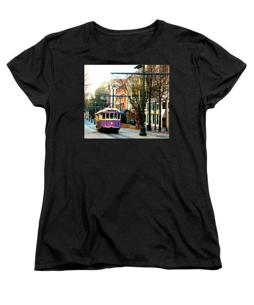 Women's T-Shirt (Standard Cut) featuring the photograph Purple Trolley by Barbara Chichester
