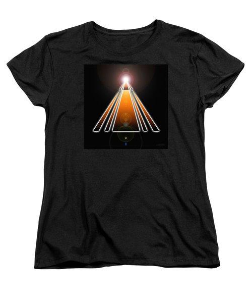 Pyramid Of Light Women's T-Shirt (Standard Cut) by Derek Gedney
