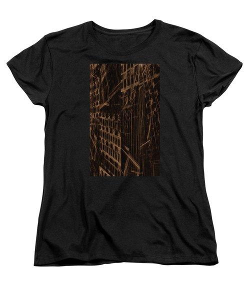 Women's T-Shirt (Standard Cut) featuring the digital art Quake - Ground Zero by GJ Blackman