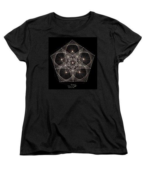 Women's T-Shirt (Standard Cut) featuring the drawing Quantum Star II by Jason Padgett